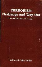Terrorism - challenge and Way Out